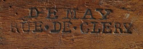 A set of four mahogany armchairs signed DEMAY - Paris circa 1800 -