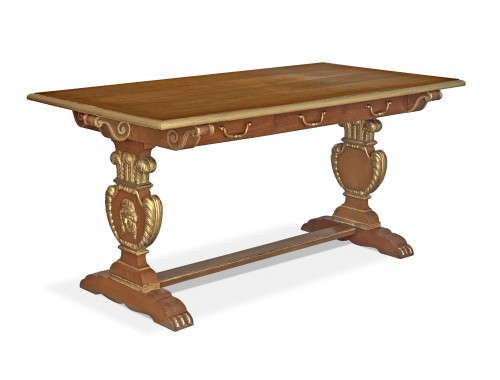 Jansen furniture - A sofa table decorated with the Prince of Wales feathers
