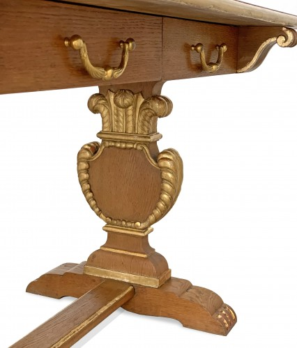 Furniture  - Jansen furniture - A sofa table decorated with the Prince of Wales feathers