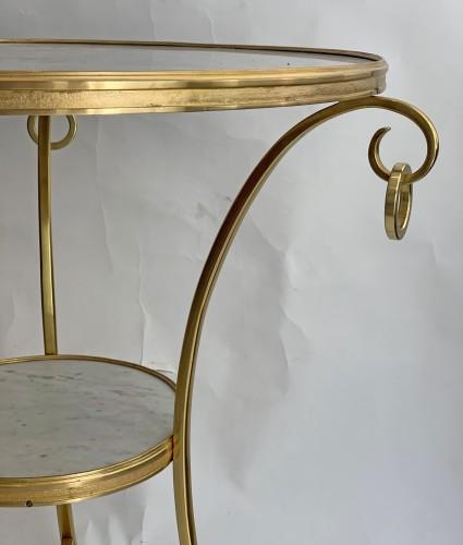 A neoclassical gilt-bronze gueridon with Carrara marble top -