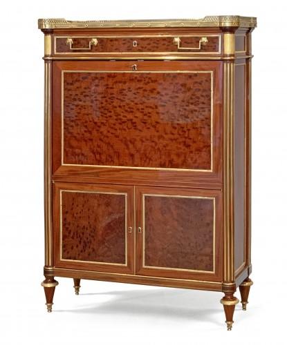 A Louis XVI ormolu mounted mahogany secretaire attributed to Molitor - Furniture Style Louis XVI