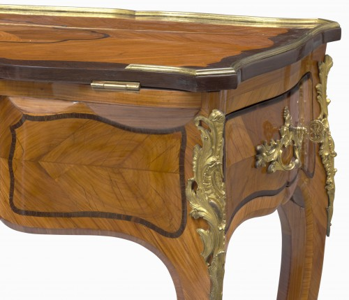 Furniture  - A Louis XV ormolu-mounted tulipwood and amaranth desk