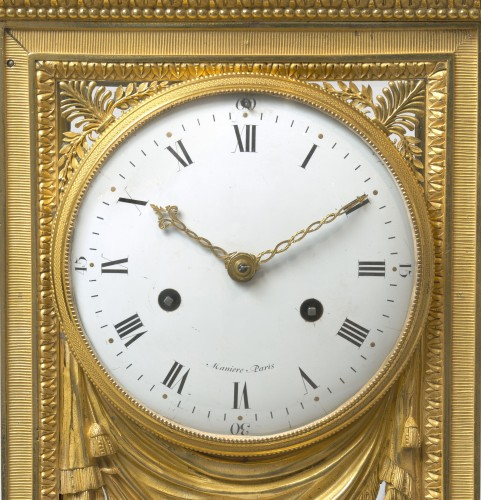 Antiquités - Manière - Merlet - Thomire. An important gilt-bronze mantel regulator