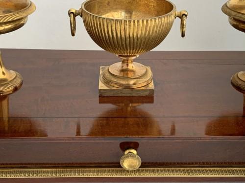 Decorative Objects  - An Empire ormolu mounted mahogany inkstand