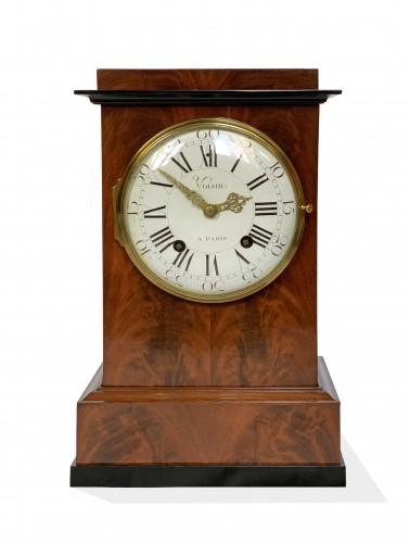 Jean Antoine Voisin - A large mahogany clock