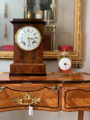Horology  - Jean Antoine Voisin - A large mahogany clock