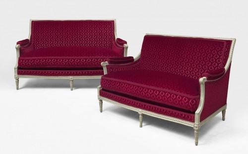 A pair of Louis XVI canapés attributed to Georges Jacob - Louis XVI