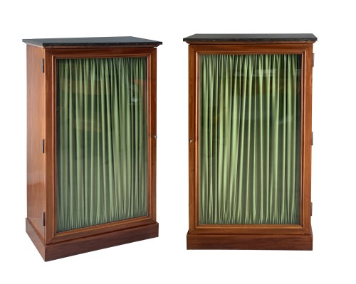A pair of mahogany bookcases, by 1820/1830