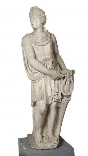 Apollo white marble, Italy circa 1700
