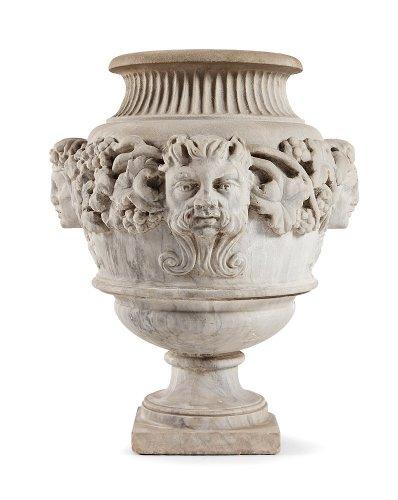 White Marble vase, Italy 19th century
