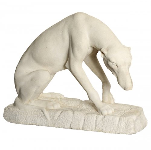 Greyhound in Carrare marble, 18th century