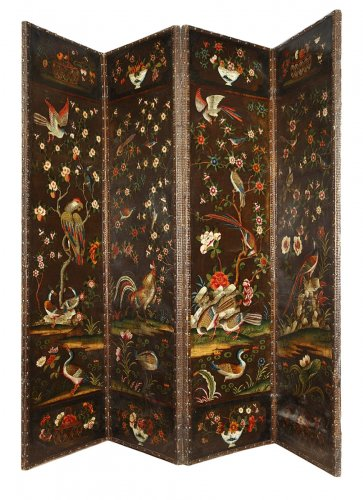 Four-panel folding screen, 18th century