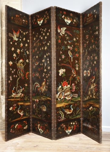 Four-panel folding screen, 18th century - Furniture Style