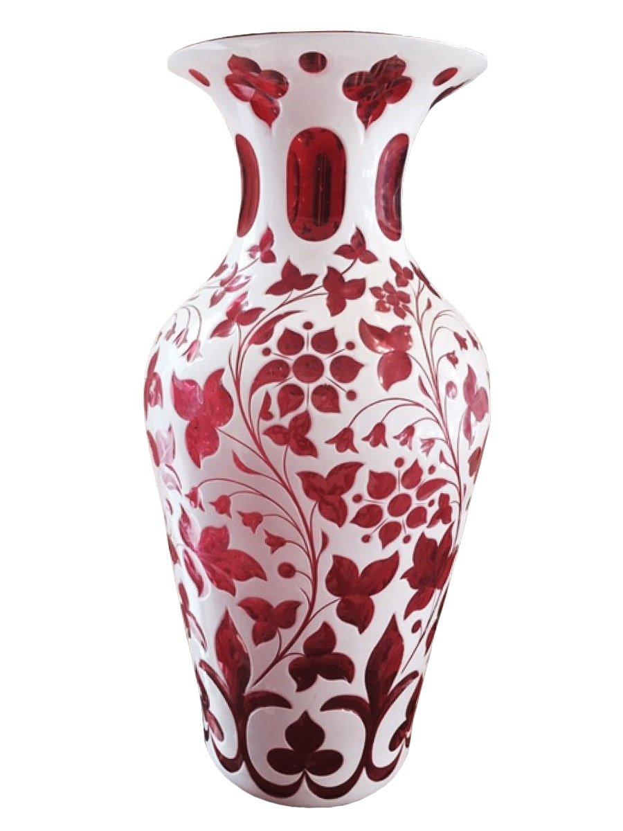 Paire de vases en cristal technique overlay xixe sicle n57941 paire de vases en cristal technique overlay floridaeventfo Image collections
