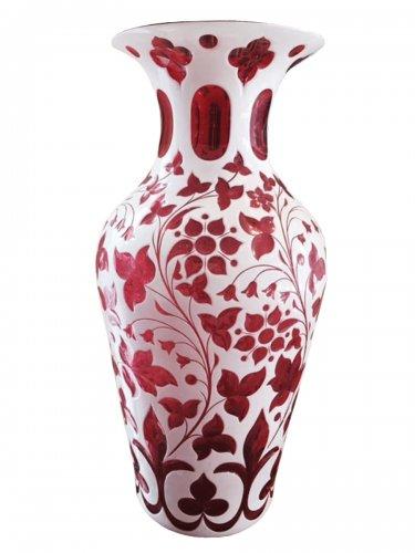 Overlay technic - cristal vases