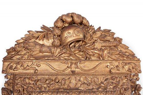 Gilt wood mirror, Louis XIV -
