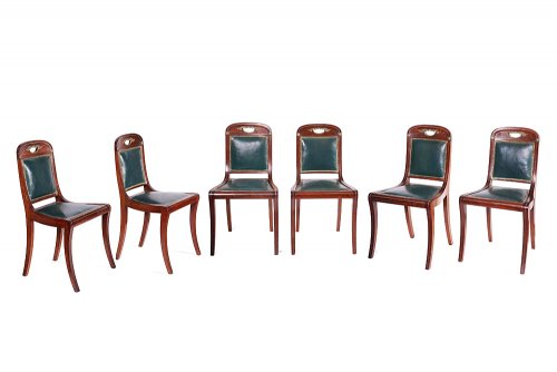 Set of six Louis Philippe chairs, by Jacob