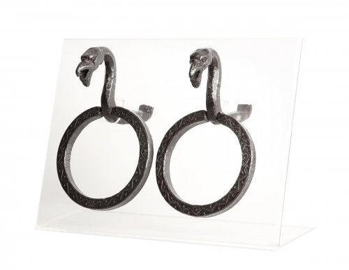 Pair of attachment rings wrought iron, Venice 16th century