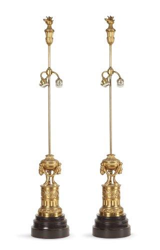 Pair of gilt bronze lamp circa 1900 - Lighting Style