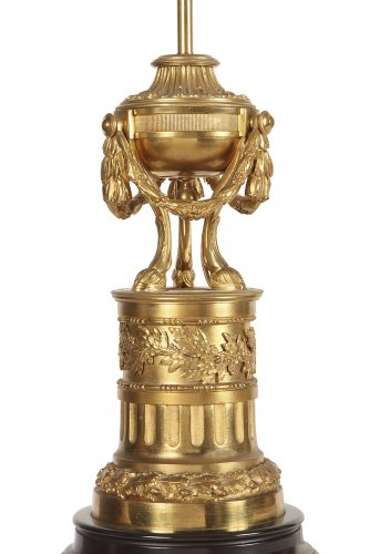 Lighting  - Pair of gilt bronze lamp circa 1900