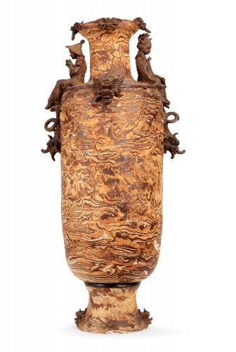 Large earthenware vase, Italy late 19th century - Decorative Objects Style