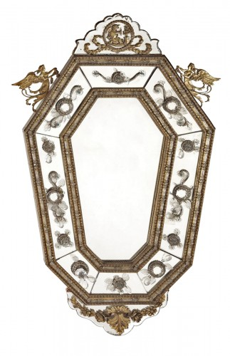 Pair of italians mirrors, 19th century