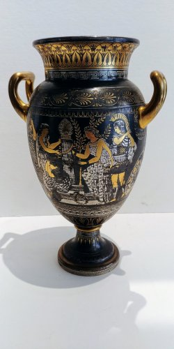 Vase of Toledo, attributed to Zuloaga Placido - Decorative Objects Style