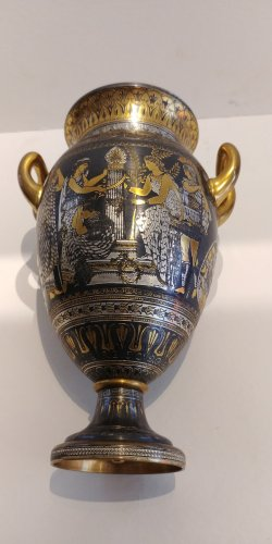 Decorative Objects  - Vase of Toledo, attributed to Zuloaga Placido