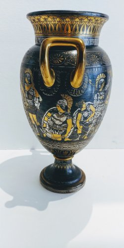 Vase of Toledo, attributed to Zuloaga Placido -