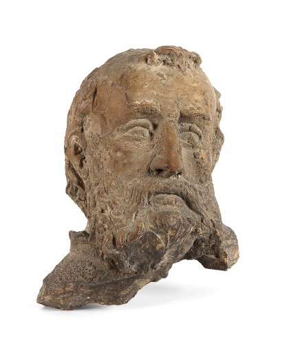Terracotta head of Saint, Italy 17th century