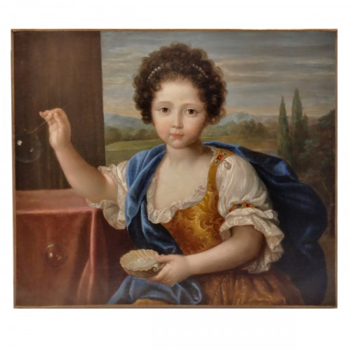 Portrait of Louise Marie de Bourbon - Attributed to Pierre Mignard