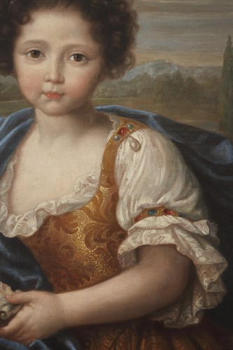 Portrait of Louise Marie de Bourbon - Attributed to Pierre Mignard -