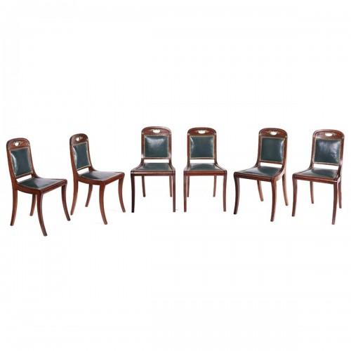 Série de 6 chaises de Jacob