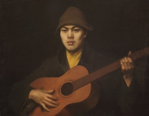 Guitar player - Italy 19th century - Paintings & Drawings Style