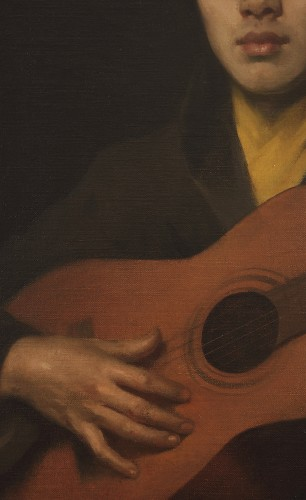 Paintings & Drawings  - Guitar player - Italy 19th century