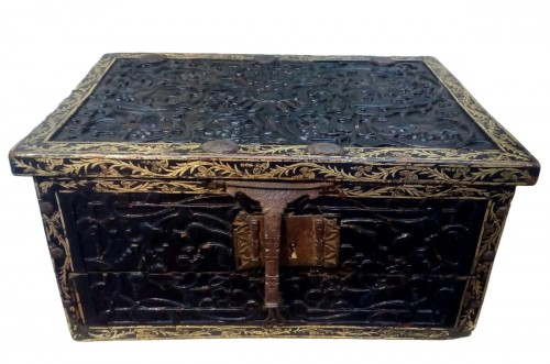 Lacquered writing case from Pegou, Indo-Burmese 16th century