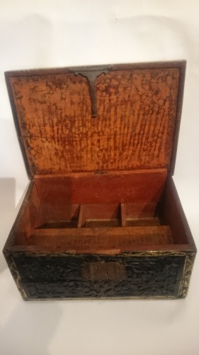 Lacquered writing case from Pegu, Indo-Burmese 16th century - Curiosities Style