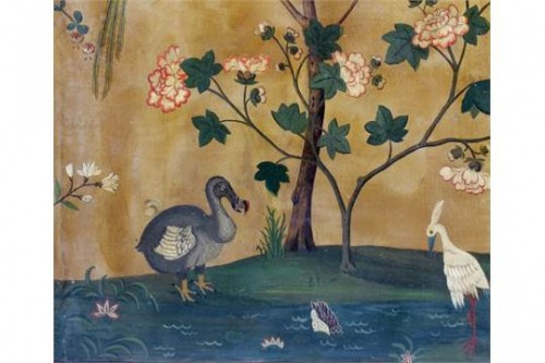 An old painted canvas 4 fold screen, India 18e siècle - Furniture Style