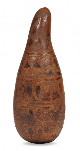 18th century Calabash engraved use as gourd