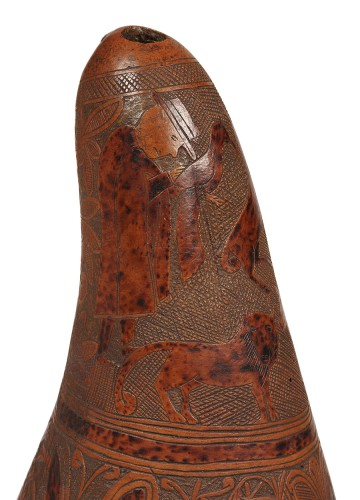 18th century - 18th century Calabash engraved use as gourd