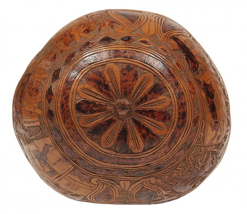 18th century Calabash engraved use as gourd -