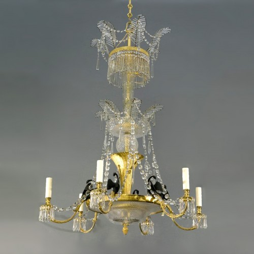An Ormolu and rock crystal Chandelier, Vienna circa 1815