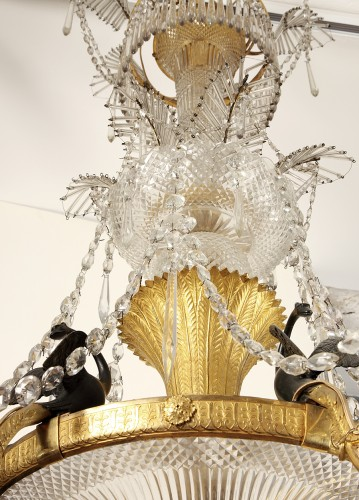 An Ormolu and rock crystal Chandelier, Vienna circa 1815 -