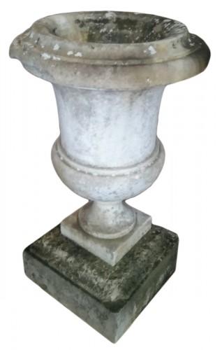 Pair of large marble vases
