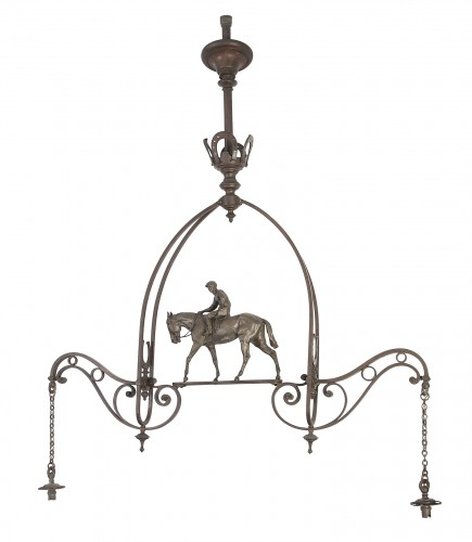 Billard bronze chandelier, 19th century