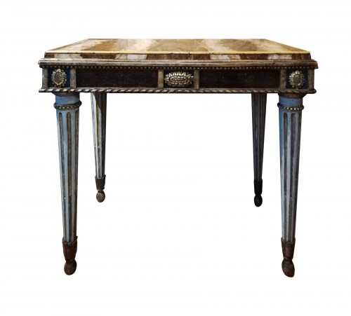 Pair of marble top consoles, Italy 18th century