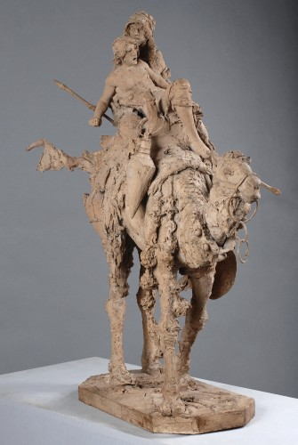 Study earthen subject orientalist, 1891 - Sculpture Style