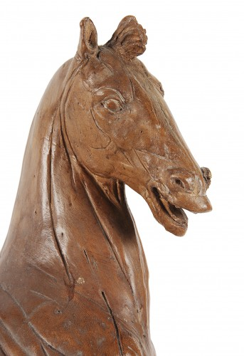 "Sculpture  - Horse ""écorché"" in terracotta 18th century"