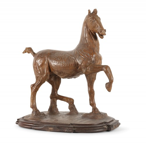 "Horse ""écorché"" in terracotta 18th century -"