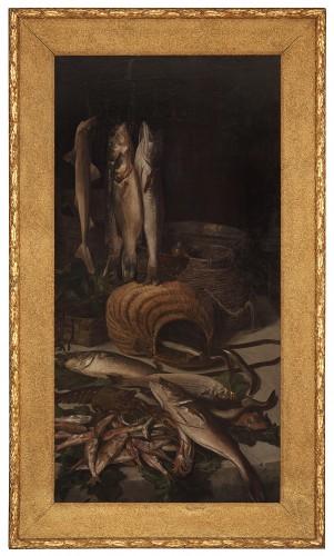 19th century - Grande paire de natures mortes - 1892